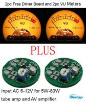 al por mayor 12v amplificador de sonido-El tablero libre del conductor 2pc y la entrada V6 del kit de los medidores del VU 2pc AC6-12V calientan los accesorios retroiluminados DIY del amplificador del metro de nivel sonoro liberan el envío
