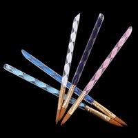 Nail Art Brushes acrylic nail brushes - Hot sale Way Acrylic Nail Art Pen Brush Cuticle Tips Set H4565