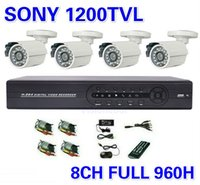 Bullet surveillance camera - Security Sony TVL Surveillance CCTV System ch h Full D1 DVR IR Cameras Surveillance System IR Cut Filter ch DVR Kit