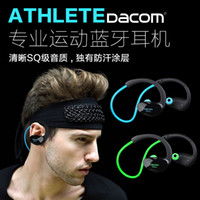 athlete music - Dacom Athlete Bluetooth Headset Wireless Sport Car Handsfree Headphones Stereo Music Ear Hook Earphones Fone De Ouvido with Microphone NFC