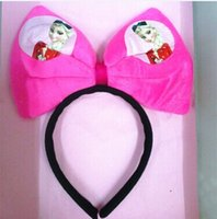 hot pink butterfly - NEW Hot Selling frozen Big butterfly hair bands free shpping Christmas Gifts
