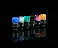 boring - 2014 Newest Puffs Drip Tips Stainless Steel with Acrylic Wide Bore Drip Tip EGO Atomizer Mouthpieces for CE4 Mini Protank E Cig Tannks