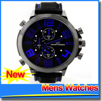big face watches for men - 2015 Fashion Silicone Watch Mens Wristwatch Glass Back Rubber Strap Big Face Sport For Men Men s Casual Watches