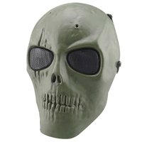 airsoft guns safe - New Hotsale Promotion UK Army Skull Skeleton Airsoft Paintball BB Gun Full Face Game Protect Safe Mask