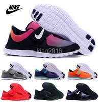 Wholesale Nike Free Socfyl SD Red Triple Black Fashion Men Women Running Shoes LunarFly Free Run Walking Sporting Shoe Size