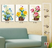 Cheap 2014 Modern Home Interior Decorative Canvas Oil Painting Watercolor Flower Printed Art Picture Wall Mural Room Decoration D53-55
