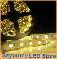 Wholesale LED strip light ribbon single color meters leds SMD non waterproof DC V led M White Red Green Blue Yellow