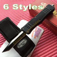 knife blades - 6 styles Microtech combat troodon steel blade single blade Tanto point Tactical survival knife knives A161 Camping knife