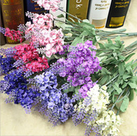 Wholesale Provence lavender flowers party decoration real touch roses colors heads rose balls weddings wreath
