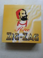 double glass window - One box ZIG ZAG double window SIZE mm mm cigarette rolling paper booklets a box for mm rolling machine grinder glass bong hot