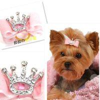 big dog boutique - 300PCS Pet Products Handmade Dog Grooming Pet Hair Bows Dog Hair Bows Pet Grooming Doggie Boutique With Big Crown Rhinestone