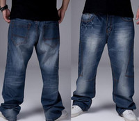 Wholesale Fashion Man loose jeans hiphop skateboard jeans baggy pants denim pants hip hop men trousers Seasons big size GF072