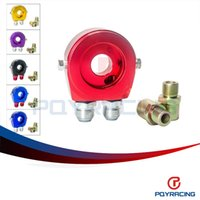 Wholesale PQY STORE Universal Aluminum Sandwich Oil Adapter Filter Cooler Plate Kit AN10 PQY6721