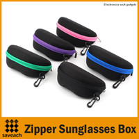 Wholesale NEW Universal Upgrade Zipper Hook Sunglasses Box Cases Compression Glasses Protable Glasses Eyewear Box Shell Cover Bag