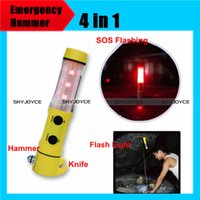 auto important - Important in Multi functional Auto Car Emergency Hammer LED Flashlight for Auto used safety hammer knife SOS flash light