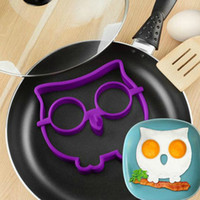 Wholesale Delicate Kitchen Tool Silicone Owl Fried Egg Mold Egg Cooking Tools Ring Shaper Novelty Skull Fun Egg Fried Tool