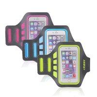 al por mayor iphone brazalete paquete al por menor-Comercio al por mayor de alta calidad caja del brazalete Haissky Brand Lycra Deportes de 6s iPhone 6 Plus, además de la banda de brazo para los entrenamientos que se ejecutan en paquete al por menor