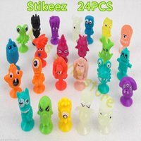 Wholesale New Ickee Stikeez Action Toy Figures With Cupule Sucker soft Toys Amusing Mini Classic Toys JW