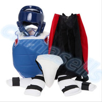 Wholesale 1set Boxing Taekwondo Thai protective gear kit chestguard Jockstrap head helmet elbow guard leg guard chest shin protector