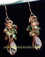 Wholesale colorful crystal waterdrop lady s earings cm myyhmz