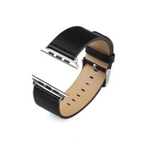 Wholesale 2015 New100 Genuine Leather watch band with Connector Adapter strap For MM MM Apple Watch Band for iWatch Sports Buckle Bracelet