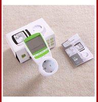 ac power consumption monitor - Green Color V A AC EU Plug energy meter power KWH Consumption Monitor Analyzer digital watt meters
