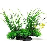 aquarium silk plant - New Artificial Green Grass Aquarium Fake Fish Tank Silk Plastic Plant Micro Landscape Ornaments X20X9 cm