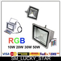 Wholesale 6Pcs RGB W W W W LED Flood Light outdoor IP65 LED street Landscape Lamp Lighting AC85 V Floodlight Keys