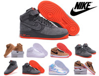 air force ones - Nike Air Force One High Men s Skate Shoes Black Red Bred Cheap Nike Air Force Low Sneakers