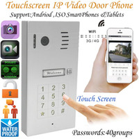 Wholesale New Touchscreen WIFI Wireless ip Doorbell Video Intercom Security Camera Video Door Phone Support IOS Android device