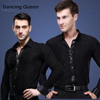 ballroom dancewear men - 2015 New Arrival Men Ballroom Dance Tops Men Dance Shirt Latin Cha Cha Rumba Samba Jazz Dancewear Top Shirts DQ6045