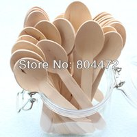 Wholesale x Disposable Wooden Spoon Heavy Weight Pack quot mm BIG Flatware Cutlery Camping Free Shippping