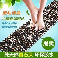 Wholesale Natural pebbles and foot massage shoes bottom massager bai maji stone stone cushion pedicures carpet floor MATS refers to the pressure plate