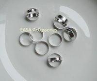 bargain rings - 50PCS unique Silver finish cm diament plain adjustable Metal Ring settingat nickle free and lead free quality Bargain for Bulk