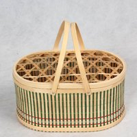 bamboo basket - bamboo basket in which you can put fruits like waxberry cherry or eggs or aquatic product seafood like crab