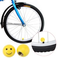 Valve Balls - 2pcs Smile Face Ball MTB Road Bicycle Bike Valve Cap Motor Car Schrader Valve Mouth Cover Tyre Stem Wheel Air Valve Dust Cap Y0642