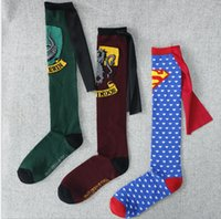 art comics - New fashion Gryffindor harry potter Superman Socks Knee High With CAPE Attached LICENSED PRODUCT calcetines meias Comics Sports Socks