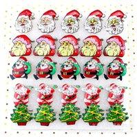 Wholesale Santa Supplies Toys Christmas Flash Brooch Badge Brooch Random Shipping Santa Claus Christmas Tree Christmas Bells LED Brooch