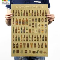 bar history - Beer encyclopedia of graphic evolutionary history Bar counter adornment kitchen retro vintage poster paper posters wall sticker