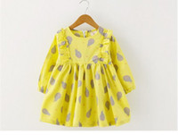 baby pls - Mother pls see your baby yellow girl dress is here vestidos fruit ptinted dresses for girls kids spring cotton clothes