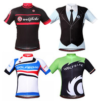 Wholesale WOLFBIKE Unisex Cycling Jersey Motorcycle MTB Bike Bicycle Breathable Shirt Top Sport Wear Clothing