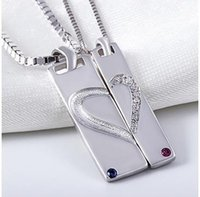 wholesale vintage jewelry - New Sterling Silver Lover Pendant Heart Vintage Choker Jewelry Gift With Crystal For