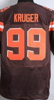 Cheap #99 Paul Kruger Jersey Men Jersey american Football Jerseys Sport Jerseys Embroidery Logos white brown orange Free Shipping Top Quality