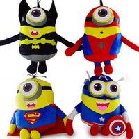 Wholesale 50pcs New CM MINIONS dolls The Avengers Superhero Plush Dolls spiderman batman child cartoon toys