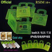 al por mayor x sim 4s-R-SIM SIM R 10 + 10 RSIM desbloquear la tarjeta + 10 + Rsim10 para el iphone 6s 6 5S 5 4S ios 9 9.X 3G 4G CDMA de Sprint AU Softbank s uso directo sin Rpatch