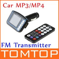 Wholesale Unbeatable At X V Inch LCD Display Car Mp3 MP4 FM Transmitter SD MMC USB with Remote Control Audio FM Receiver