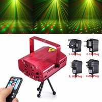 Wholesale RED Mini R G Auto Voice Xmas DJ Disco LED Laser Stage Light Projector with Remote Controller LIF_227
