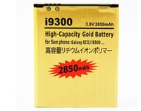 Wholesale Factory supply replacement battery For Samsung Galaxy S3 SIII I9300 High Capacity Gold mAh