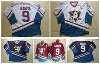 Wholesale Men s CCM Ice Hockey Jersey Cheap Mighty Ducks Paul Kariya Jersey Vintage Throwback Stitched Logo China Anaheim Ducks Jerseys