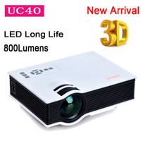 Wholesale Original UNIC UC40 Mini Pico portable D Projector HDMI Home Theater beamer multimedia proyector Korean Russian
